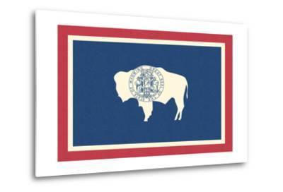 Wyoming State Flag-Lantern Press-Metal Print