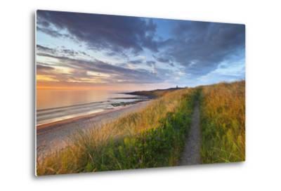 United Kingdom, Uk, Northumberland, Sunrise at Dunstanburgh Castle-Fortunato Gatto-Metal Print