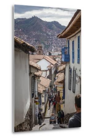 Street Scene in San Blas Neighbourhood, Cuzco, UNESCO World Heritage Site, Peru, South America-Yadid Levy-Metal Print
