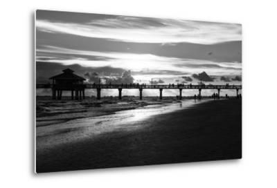 Fishing Pier Fort Myers Beach at Sunset-Philippe Hugonnard-Metal Print