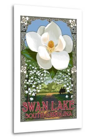 Swan Lake, South Carolina - Magnolia-Lantern Press-Metal Print