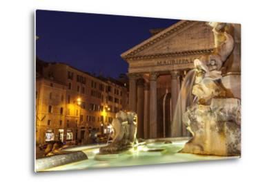 Piazza Della Rotonda and the Pantheon, Rome, Lazio, Italy, Europe-Julian Elliott-Metal Print