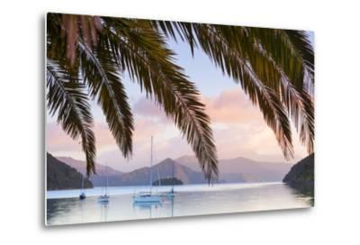 Yachts Anchored on the Idyllic Queen Charlotte Sound, Marlborough Sounds, South Island, New Zealand-Doug Pearson-Metal Print