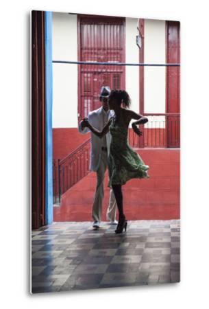 Cuba, Santiago De Cuba Province, Santiago De Cuba, Historical Center, Calle Heredia, Artex Bar-Jane Sweeney-Metal Print