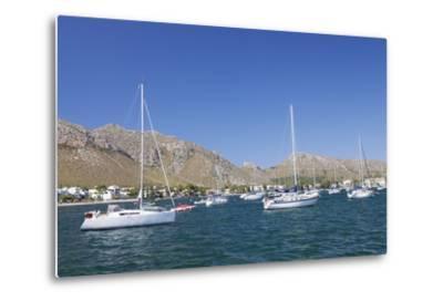 View over the Marina to Port De Pollenca, Pollenca, Majorca (Mallorca)-Markus Lange-Metal Print