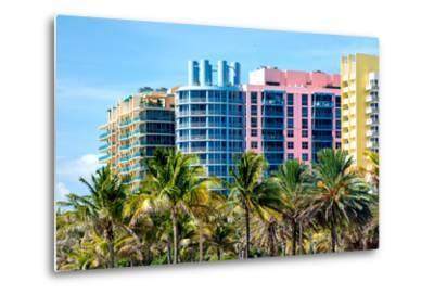 Art Deco Colors Architecture of Miami Beach - South Beach - Florida-Philippe Hugonnard-Metal Print