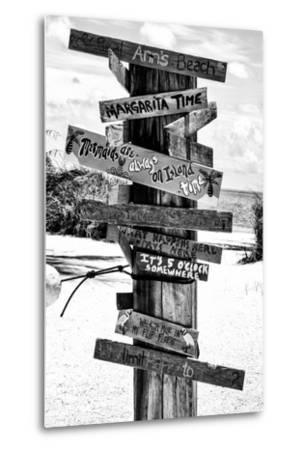 Directional Fun Signs on the Beach - Florida-Philippe Hugonnard-Metal Print