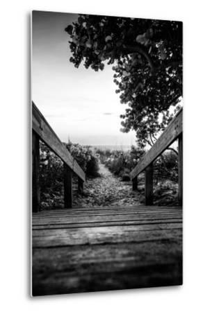 Boardwalk on the Beach at Sunset - Florida-Philippe Hugonnard-Metal Print