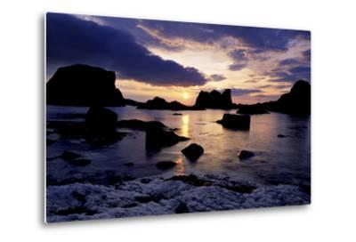 Sunset at Ballintoy on the North Coast of Antrim-Chris Hill-Metal Print