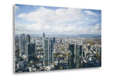 High Angle View of Financial Centre, Frankfurt-Am-Main, Hesse, Germany, Europe-Mark Doherty-Metal Print