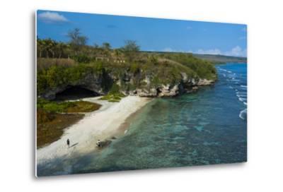 Ladder Beach, Saipan, Northern Marianas, Central Pacific, Pacific-Michael Runkel-Metal Print
