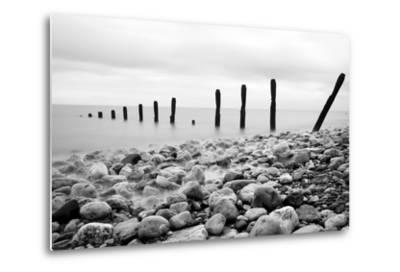 Beach Pebbles--Metal Print