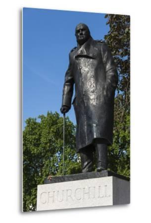 Statue of Sir Winston Churchill, Parliament Square, London, England, United Kingdom, Europe-James Emmerson-Metal Print