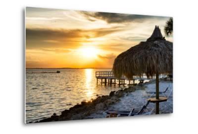 Private Beach at Sunset-Philippe Hugonnard-Metal Print
