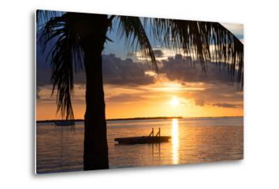 Sunset Landscape with Floating Platform - Miami - Florida-Philippe Hugonnard-Metal Print