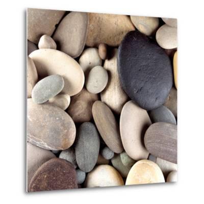 Brown Pebbles--Metal Print