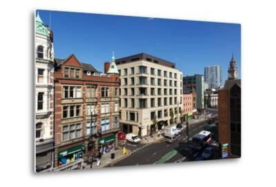 High Angle View of High Street in Belfast-Chris Hill-Metal Print