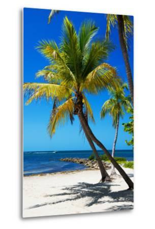 Palms on a White Sand Beach in Key West - Florida-Philippe Hugonnard-Metal Print