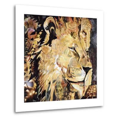The Lion-James Grey-Metal Print