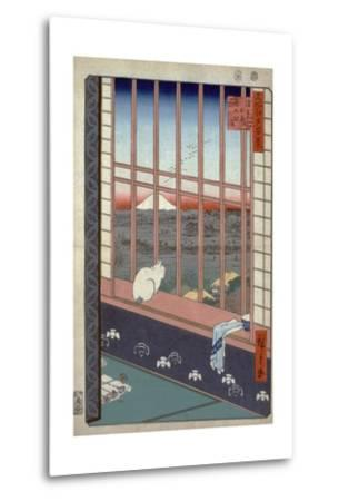 Asakusa Ricefields and Torinomachi Festival-Ando Hiroshige-Metal Print