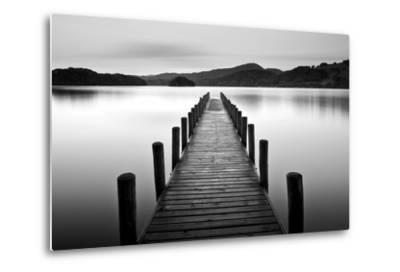Lake Pier--Metal Print