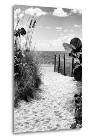 Boardwalk on the Beach - Miami - Florida-Philippe Hugonnard-Metal Print