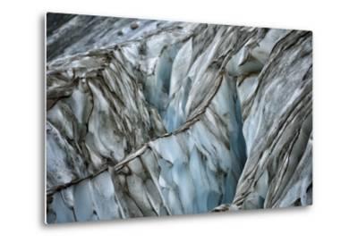 A Blue Iceberg Striped with Streaks of Black-Keith Ladzinski-Metal Print
