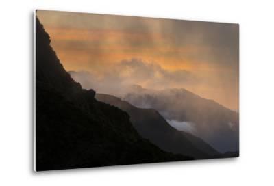 Sunset Above Fox Glacier-Michael Melford-Metal Print