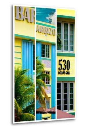 Triptych Collection - Art Deco Architecture - Ocean Drive - Miami Beach - Florida-Philippe Hugonnard-Metal Print