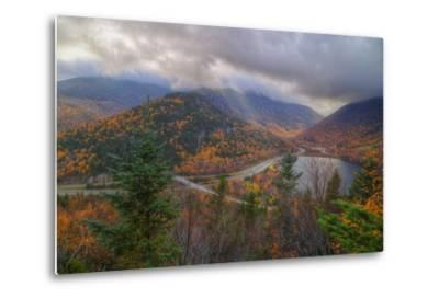 Morning Storm at Echo Lake in Autumn, New Hampshire-Vincent James-Metal Print