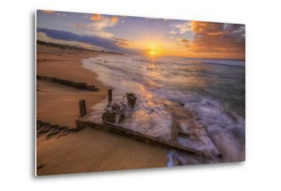 The End of the Road, Polihale Beach, Kauai Hawaii-Vincent James-Metal Print