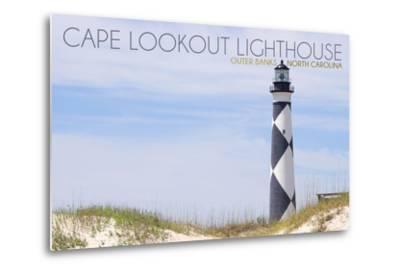 Cape Lookout Lighthouse - Outer Banks, North Carolina-Lantern Press-Metal Print