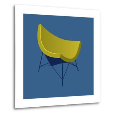 Mid Century Chair I--Metal Print