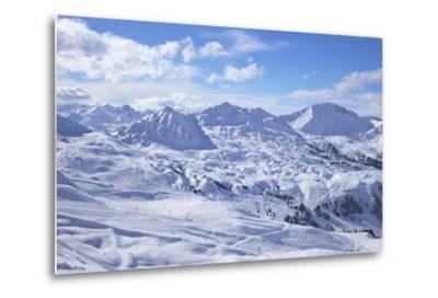 View of Slopes Near Belle Plagne, La Plagne, Savoie, French Alps, France, Europe-Peter Barritt-Metal Print