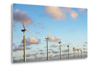 A 150 Feet Tall Wind Turbines Just Outside Arikok National Park-Mauricio Handler-Metal Print