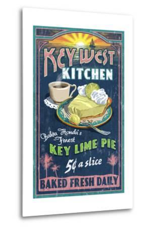 Bahia Honda, Florida Keys - Key Lime Pie Sign-Lantern Press-Metal Print