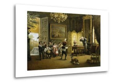 The Brass Band-Cesare Felix Georges Dell'Acqua-Metal Print