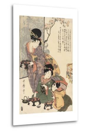 Girl's Festival (Hinamatsuri)-Kitagawa Utamaro-Metal Print