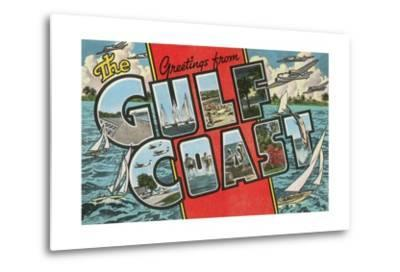 Greetings from the Gulf Coast, Florida--Metal Print