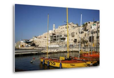 View over the Port and Old Jaffa, Tel Aviv, Israel, Middle East-Yadid Levy-Metal Print