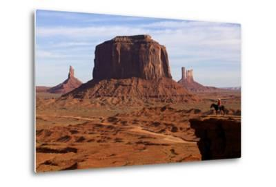 Adrian, Last Cowboy of Monument Valley, Utah, United States of America, North America-Olivier Goujon-Metal Print