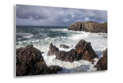 Heavy Seas Pounding the Rocky Coastline at Dalbeg-Lee Frost-Metal Print