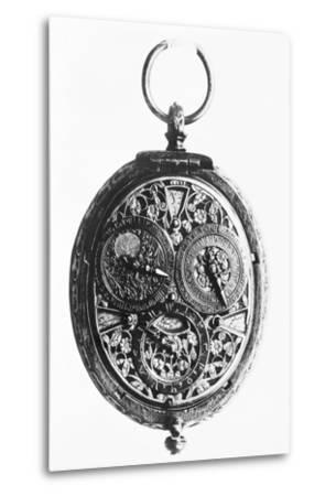 17th-Century German Calendar Watch--Metal Print