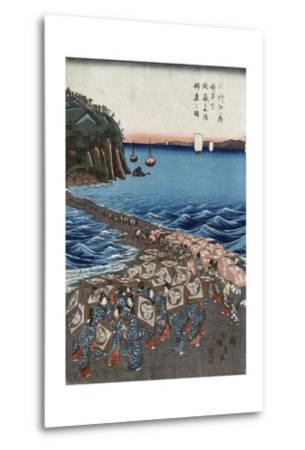 Opening Celebration of Benzaiten Shrine at Enoshima in Soshu-Ando Hiroshige-Metal Print