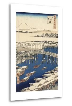 Nihonbashi, Clearing after Snow-Ando Hiroshige-Metal Print