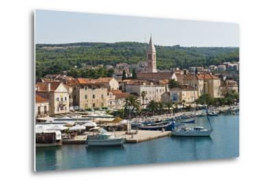 Supetar Harbour and the Church of the Annunciation-Matthew Williams-Ellis-Metal Print