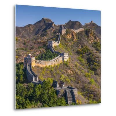China, Hebei Province, Luanping County, Jinshanling, Great Wall of China-Alan Copson-Metal Print