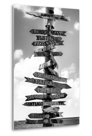 Destination Signs - Key West - Florida-Philippe Hugonnard-Metal Print