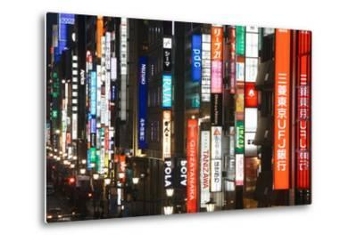Chuo-Dori, Elevated View at Dusk Along Tokyo's Most Exclusive Shopping Street-Gavin Hellier-Metal Print