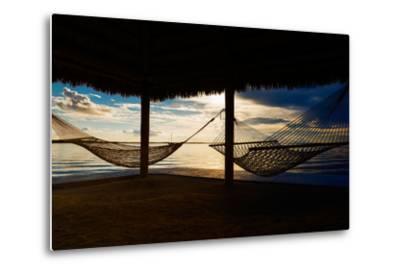 Two Hammocks at Sunset - Florida-Philippe Hugonnard-Metal Print
